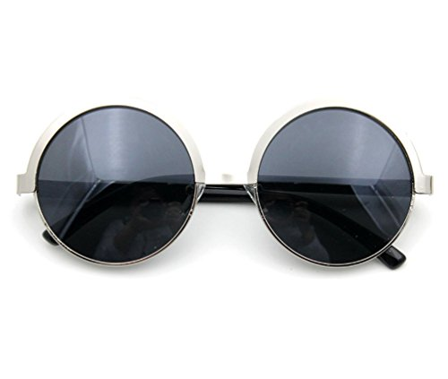Tansle Sunglasses Retro Style Rimless Round Lens PC Frame In light Weight for Unisex ()