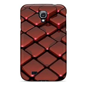 High-quality Durable Protection Cases For Galaxy S4(3d Red Glass On Box Floor) by icecream design