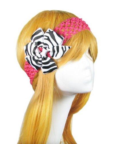 "HipGirl Boutique Girls 4""-4.5"" Lg Grosgrain Ribbon Pinwheel Hair Bow Clips"