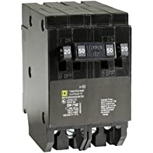 Square D by Schneider Electric HOMT2020250CP Homeline 2-20-Amp Single-Pole 1-50-Amp Two-Pole Quad Circuit Breaker