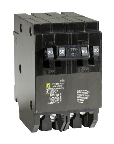 Square D by Schneider Electric HOMT2020250CP Homeline 2-20-Amp Single-Pole 1-50-Amp Two-Pole Quad Circuit Breaker by Square D by Schneider Electric