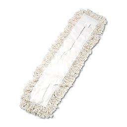 UNISAN Industrial Dust Mop Head, Hygrade Cotton, 36 Width x 5 Depth, White (1336)