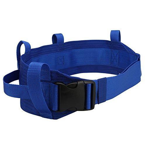 Guoer Transfer Walking Gait Belt with 4 Vertical Handles 3 Transverse Handles Gait Belt One Size Multi-Color (Color 022)