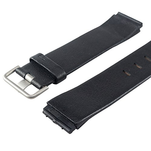 Replacement BLACK LEATHER Watch Band for Jacob Jensen 603, 605, 606, 840, 841, 842, 843, 860,861, 865, 866, 880, 881, 885, 886.