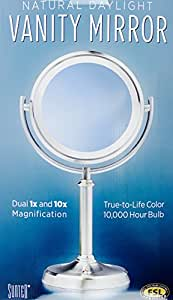 Sunter Lighted Vanity Mirror Reviews : Amazon.com: Vanity Mirror Natural Daylight 10,000 Hour Bulb Dual 1x and 10x Magnification by ...