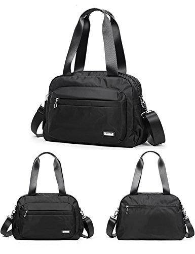 Fouvor Black Bag Bag Waterproof Satchel 280020 Nylon Shoulder Crossbody BrqFwOB