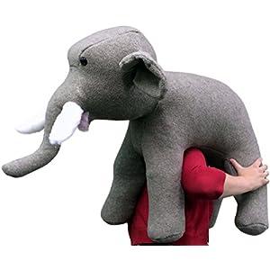American Made Oversized Stuffed Elephant 36 Inches Gray Color Soft Large Plush - 41JFXFGogqL - American Made Oversized Stuffed Elephant 36 Inches Gray Color Soft Large Plush
