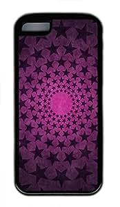 iPhone 5c case, Cute Star Circles iPhone 5c Cover, iPhone 5c Cases, Soft Black iPhone 5c Covers