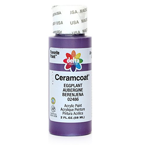Delta Creative Ceramcoat Acrylic Paint in Assorted Colors (2 oz), 2486, Eggplant