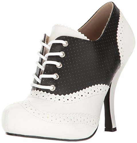 Pleaser Pink Label PINUP-07 Blk-wht Faux Leather 0vy1eXl