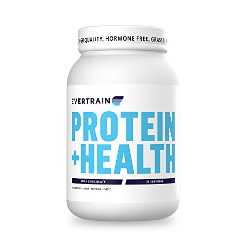 EVERTRAIN Protein Health – Grass Fed, Hormone and Antibiotic Free Immune Boosting Protein Powder with Digestive Enzymes – Milk Chocolate
