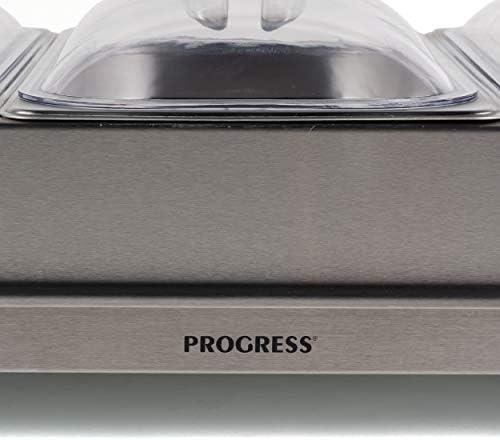 PROGRESS EK3665P EK3665P-Calentador de Alimentos (3 sartenes, 300 W), Acero Inoxidable: Amazon.es: Hogar