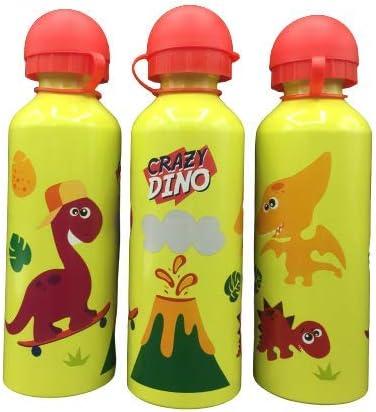 ML Una Botella de Agua de Aluminio, cantimplora térmica a Prueba de Fugas sin BPA para Levar a la Escuela y Deportes el Termo 500ml para niños y niñas (Amarillo)