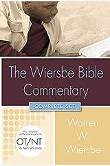 Wiersbe Bible Commentary 2 Vol Set (Wiersbe Bible Commentaries) Hardcover