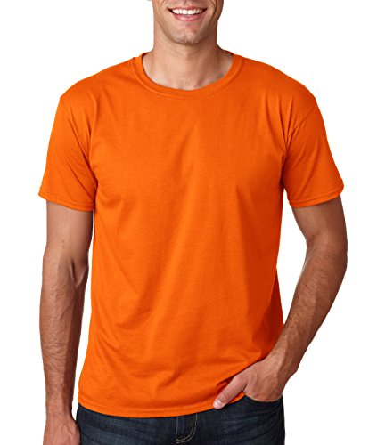 - Gildan Men's Softstyle Ringspun T-shirt - Small - Orange