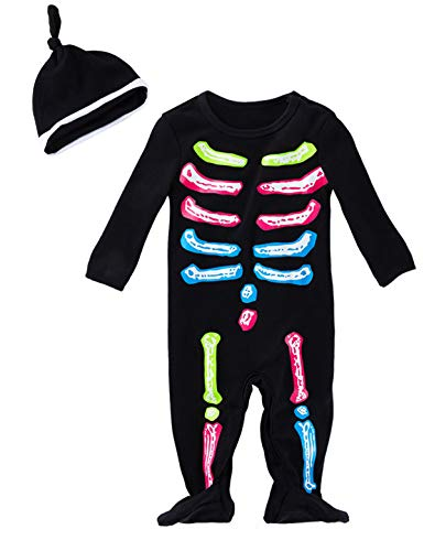 Skeleton And Baby Skeleton Costumes - Aslaylme Halloween Baby Skeleton Costume Romper