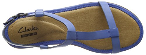 Clarks Risi Hop Sandalias, Mujer Azul (Blue Leather)