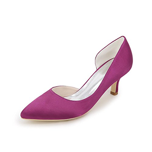 Dress Talons Satin Wedding Ouvert Femme La Printemps Evening Party De automne ÉTé L Toe purple Hauts YC amp; awP5z5
