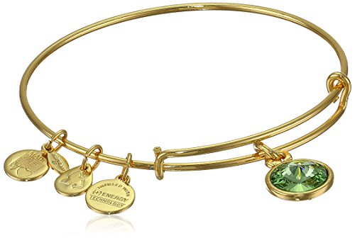 "Alex and Ani ""Bangle Bar"" August Birth Month Gold-Tone Expandable Bracelet"