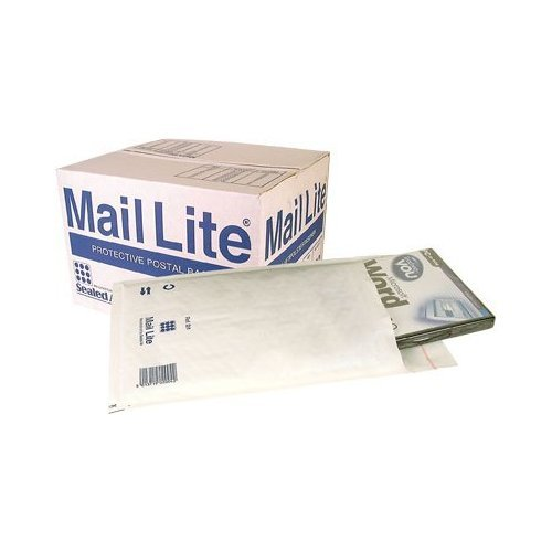 (25 Pack) H/5 H5 - 270 x 360mm Sealed Air Mail Lite White Padded Envelope Mail Postal Bags [Equivalent to Jiffy JL5 / Featherpost size H]