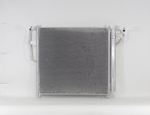 A-C Condenser - Pacific Best Inc For/Fit 3615 04-15 Nissan Armada 04-15 Titan 04-10 QX56 WITH Dryer & Sensor