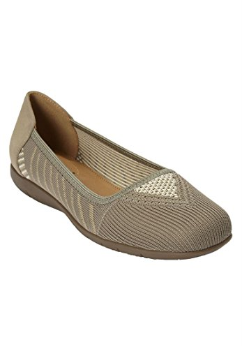 Combo Outlet Plus Size Franna Flats Tan Combo