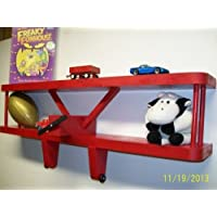 """RED Airplane Wall Decoration Shelf - 24"""" Wide X 3 1/2"""" Deep / Great for Kids"""