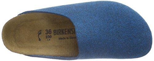 BirkenstockAmsterdam Birkofilz - Zuecos Unisex adulto Azul (petrol)