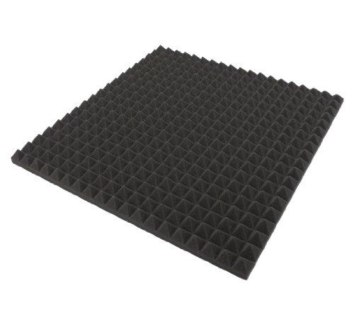 Akustik Dämmung,Pyramiden Schaumstoff ECO, Schalldämmung,Tonstudio, 1 St. ca. 48cm x 48cm x 2,5 cm