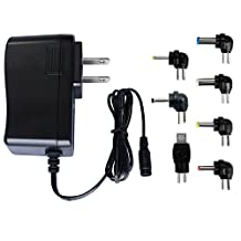 ZOZO 5V2a (2000mA) 10W Power Supply Multi Tip Switching Replacement Adapter Wall Plug Charger for Android Tablets Webcam Routers Toys Recorder Bluetooth Speaker and More