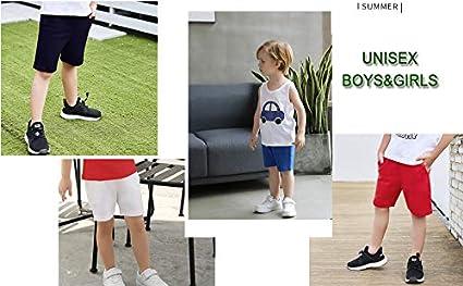 ALALIMINI Toddler Boys/&Girls Bike Shorts 2-Pack Summer Basic Athletic Joggers Cotton Pants