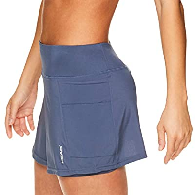 HEAD Women's Athletic Tennis Skirt - Workout Golf Exercise & Running Skort with Pockets - Ability Vintage Indigo Blue, Large: Clothing