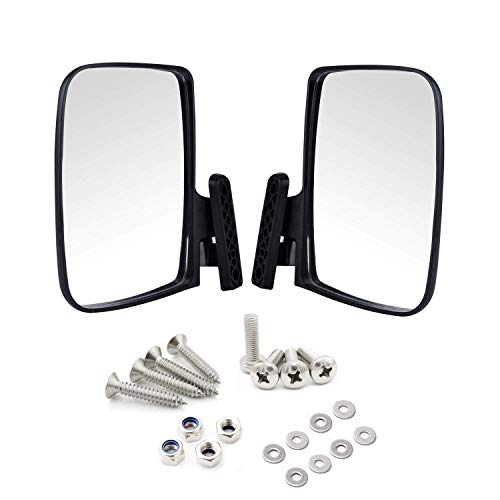 - Universal Golf Cart Side View Mirrors for EzGo Club Car Yamaha, Moveland RHOX Style Accessories