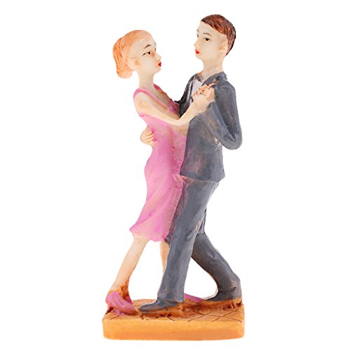Fityle 1 Pair Sweety Lover Couple Figurine Miniatures for Home Garden Wedding Decor (Couple Miniature)