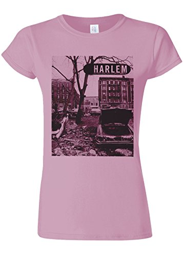 ごみ切り離すそれによってHarlem Backstreet NY Gangster Novelty Light Pink Women T Shirt Top-XXL