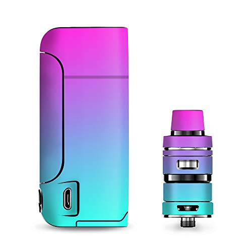 IT'S A SKIN Decal Vinyl Wrap for Vaporesso Armour Pro Cascade Tank Vape Sticker Sleeve/Hombre Pink Purple Teal Gradient
