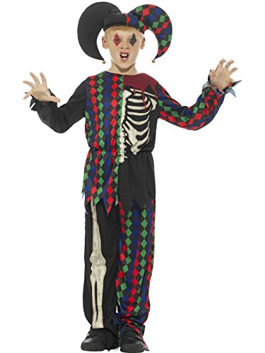 Smiffy's Skeleton Jester Costume, Multicolor, X-Large (Jester Skeleton)