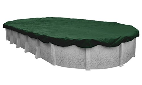 Oval Cover Winter - Robelle 321833-4 Dura-Guard Winter Pool Cover for Oval Above Ground Swimming Pools, 18 x 33-ft. Oval Pool