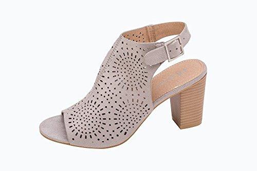 Parzel - Zapatos con tacón mujer gris