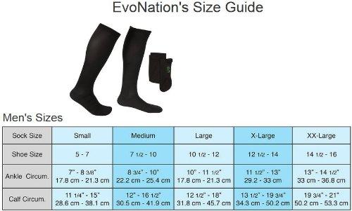 304d586f17 ... 3 Pair EvoNation Men's Copper USA Made Graduated Compression Socks 20-30  mmHg Firm Pressure ...