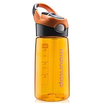 mountop Deporte Botella de Agua con Pajita - 700ml - Cómoda para Beber - SIN BPA