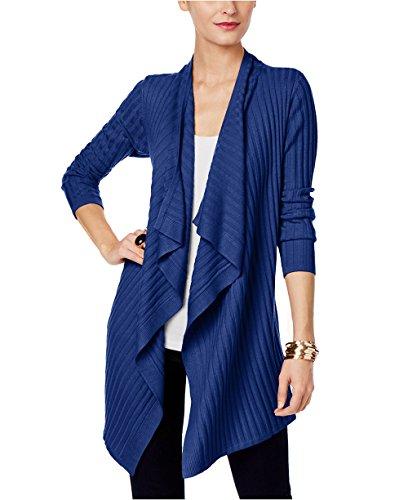 INC International Concepts Women's Draped Open-Front Cardigan (X-Large, Goddess Blue)