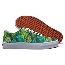 Green Tropical Palm Tree Women's Casual Shoes Sneakers Slip-On Lo-Top Cute Original