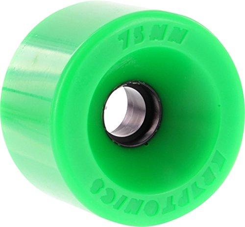 Kryptonics Wheels Star Trac Green Longboard Skateboard Wheels - 75mm 86a (Set of 4)
