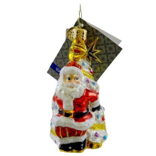 Christopher Radko BIG DELIVERY GEM Blown Glass Ornament Christmas Gem Santa by Christopher Radko by Christopher Radko