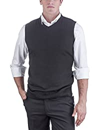 Men's Solid Color V-Neck Sweater Vest