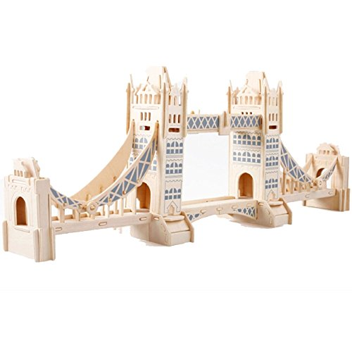 Kids' Model Puzzle 3D Funny Early Educational Toys, London Tower Bridge