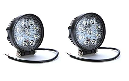 e873c86012e Image Unavailable. Image not available for. Colour  Autosky Round Off Road  9 LED Car Aux Fog Light Driving Lamp for Cars Bikes and