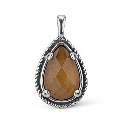 (Carolyn Pollack CP Signature Tiger Eye Doublet Tear Drop Charm Pendant)