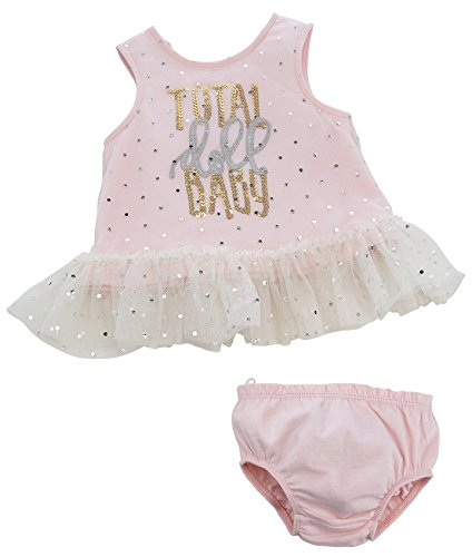 (Mud Pie Baby Girls' Two Piece Bloomer Set Sleeveless, Doll, 9-12 Months)
